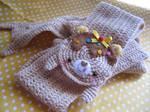 Kawaii scarf made by crochet