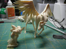 ChibiUsa and Pegasus Resin Figure WIP