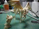 ChibiUsa and Pegasus Resin Figure WIP by LeonasWorkshop