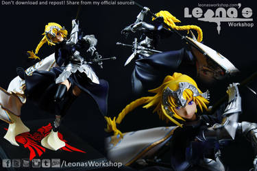 Jeanne d'Arc with Flag Figure by LeonasWorkshop