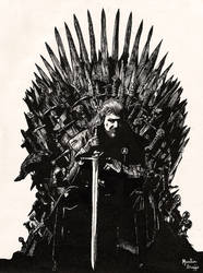 Eddard in the Iron Throne by aporcelana