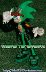 Clay Scourge the Hedgehog by HeyLookASign
