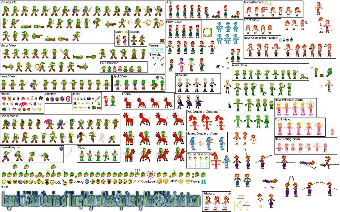 Zelda OOT MM Seasons Sprites by HeyLookASign
