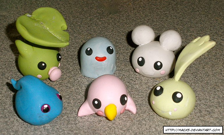 Clay Digimon: Season 2 Babies by HeyLookASign