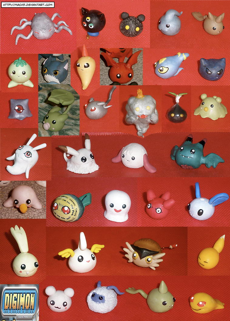 Clay Digimon: Fresh by HeyLookASign