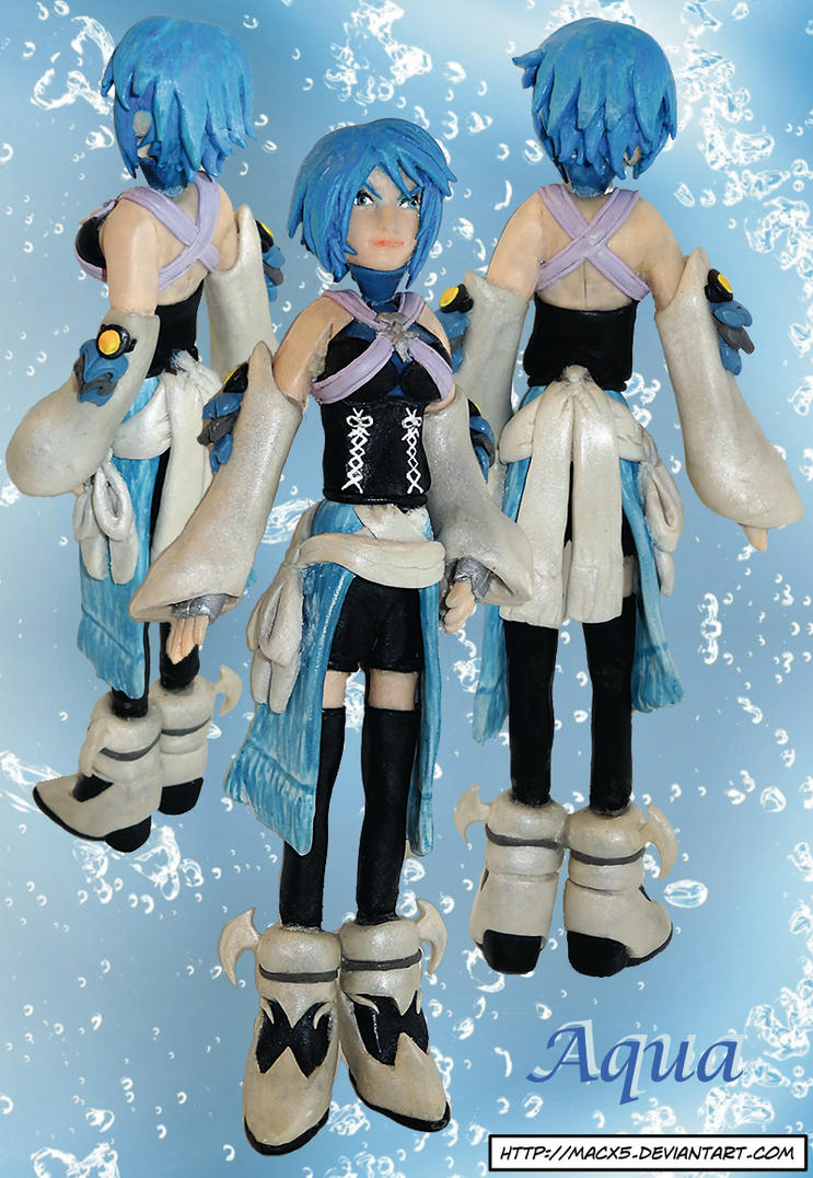 Clay Kingdom Hearts Aqua by HeyLookASign