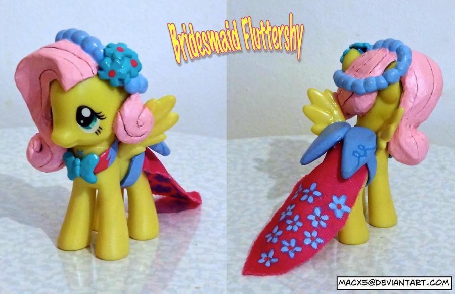 Custom Bridesmaid Fluttershy yay by HeyLookASign