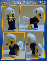 Doctor Who Pony - 3rd Doctor by HeyLookASign