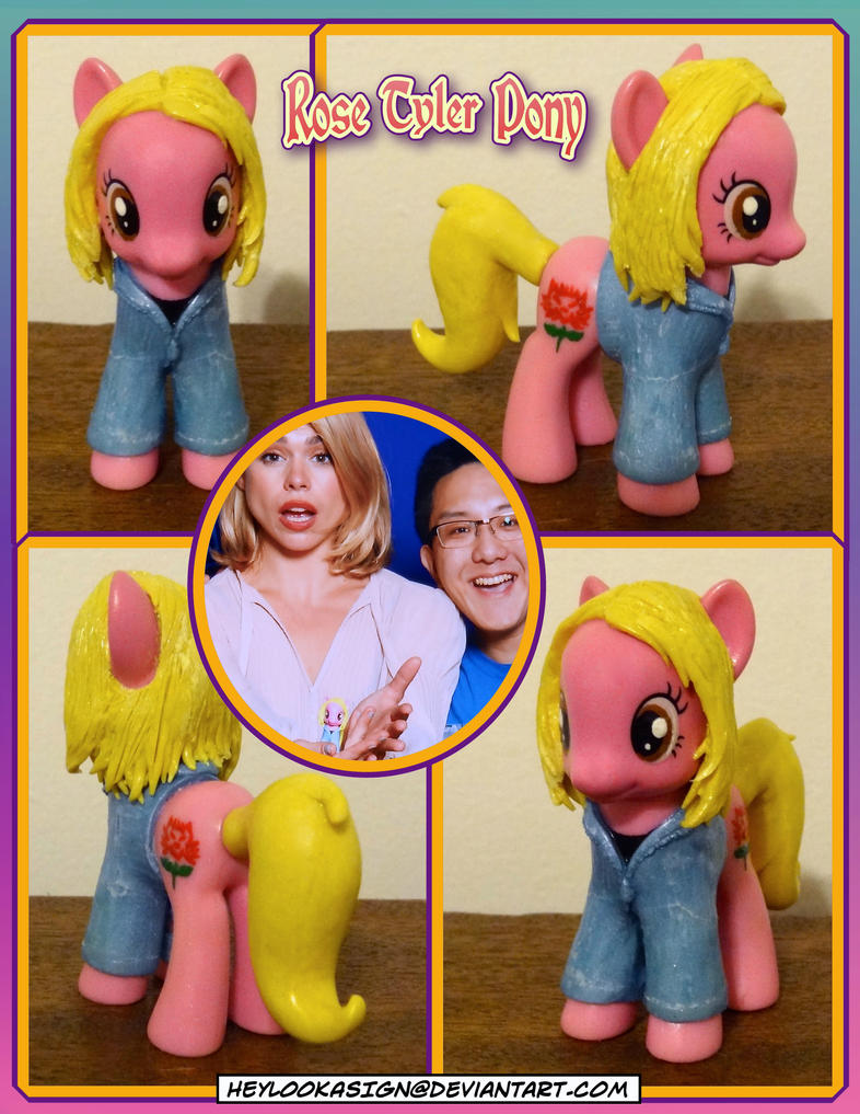 Doctor Who Pony Rose Tyler by HeyLookASign