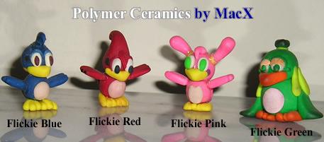 Ceramic Sonic - Flickie Birds by HeyLookASign