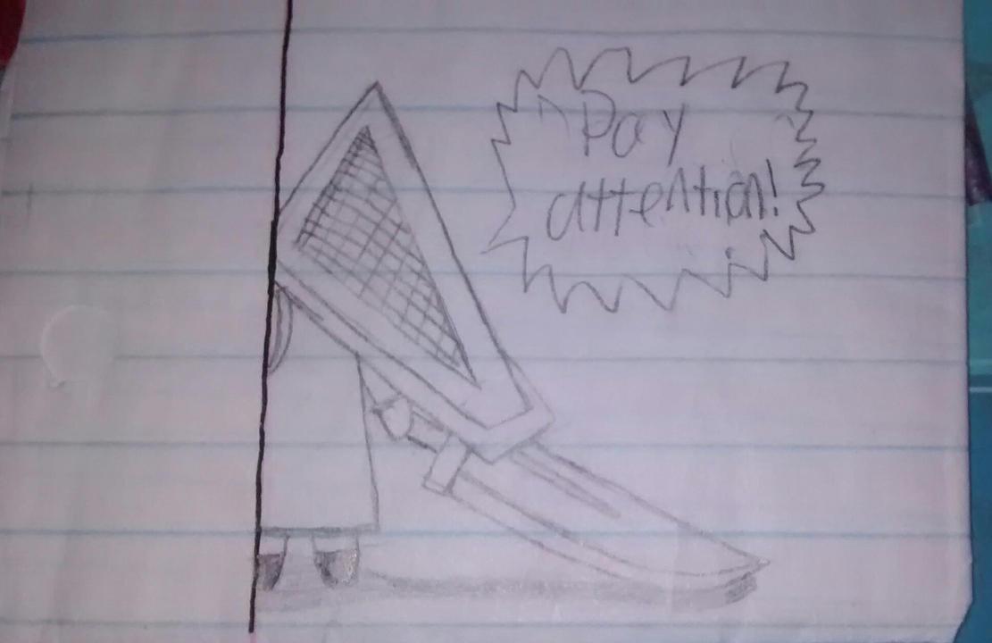 Old Pyramid Head sketch by Skeletalarchangel