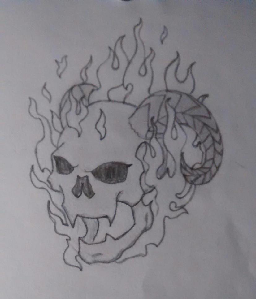 Screaming Demon by Skeletalarchangel