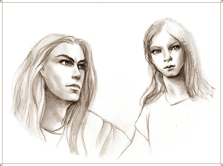 Finarfin with Finrod by Airendis