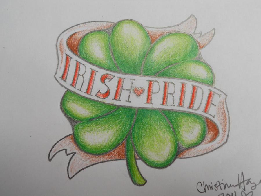 irish pride tattoo design by prissychrissy on deviantart. Black Bedroom Furniture Sets. Home Design Ideas