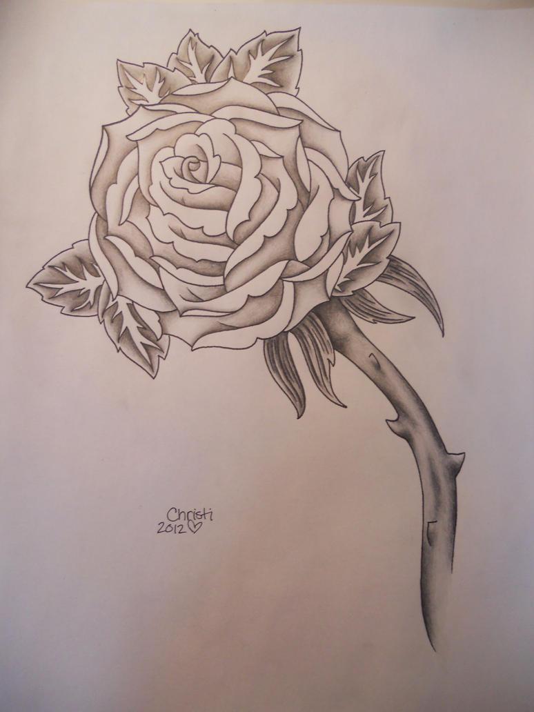 Black And White Rose Tattoo Design By Prissychrissy On Deviantart