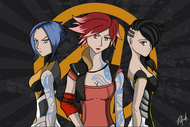 Borderlands 2 Sirens (commission work) by patgarci