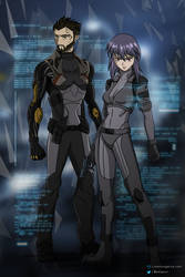 Adam and The Major | Ghost In the Shell/Deus Ex by patgarci