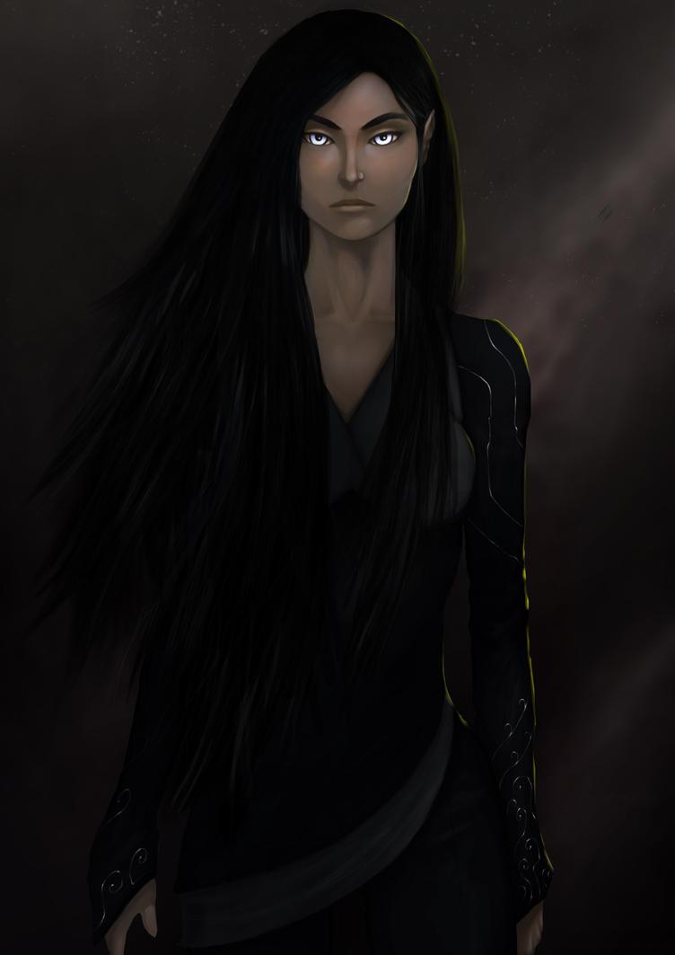 Elven Priestess by Rrabbstyjke