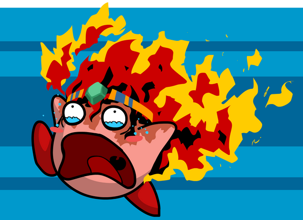 Kirby Right Back At Ya Fire Kirby Fire Kirby by The-Knic...