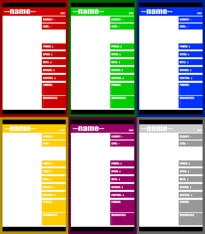 charactercard templates by the knick on deviantart