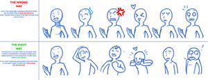 Dialogue Character Busts: Right and Wrong