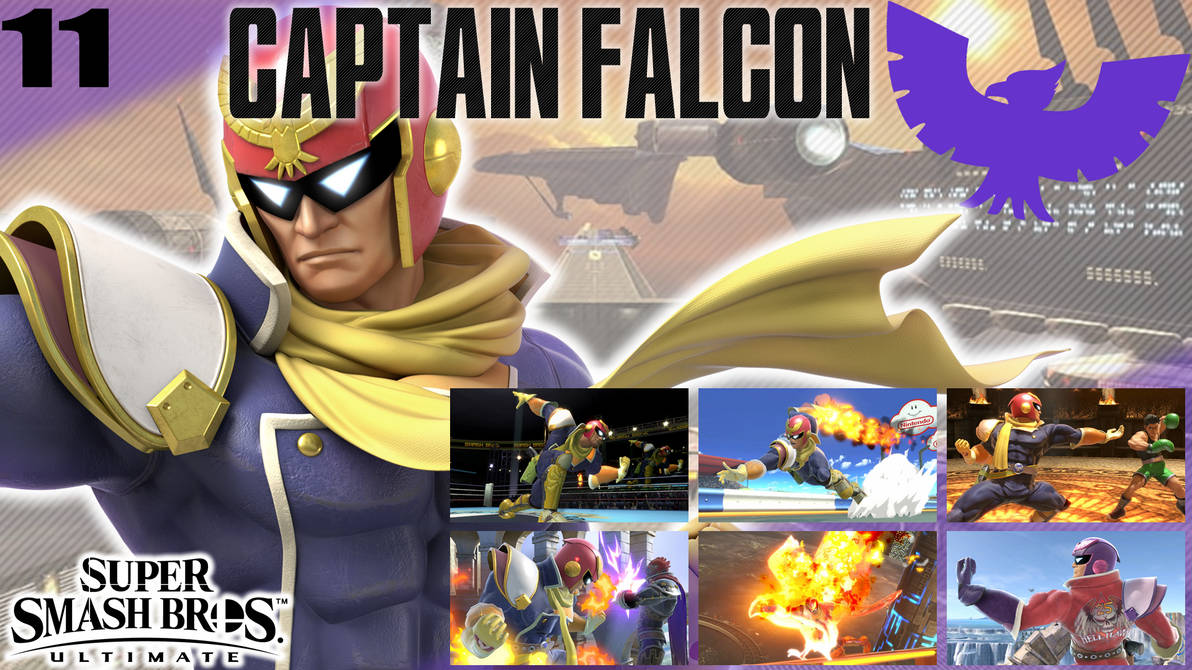 SSBU Wallpaper - 11 - Captain Falcon by UMSAuthorLava ...