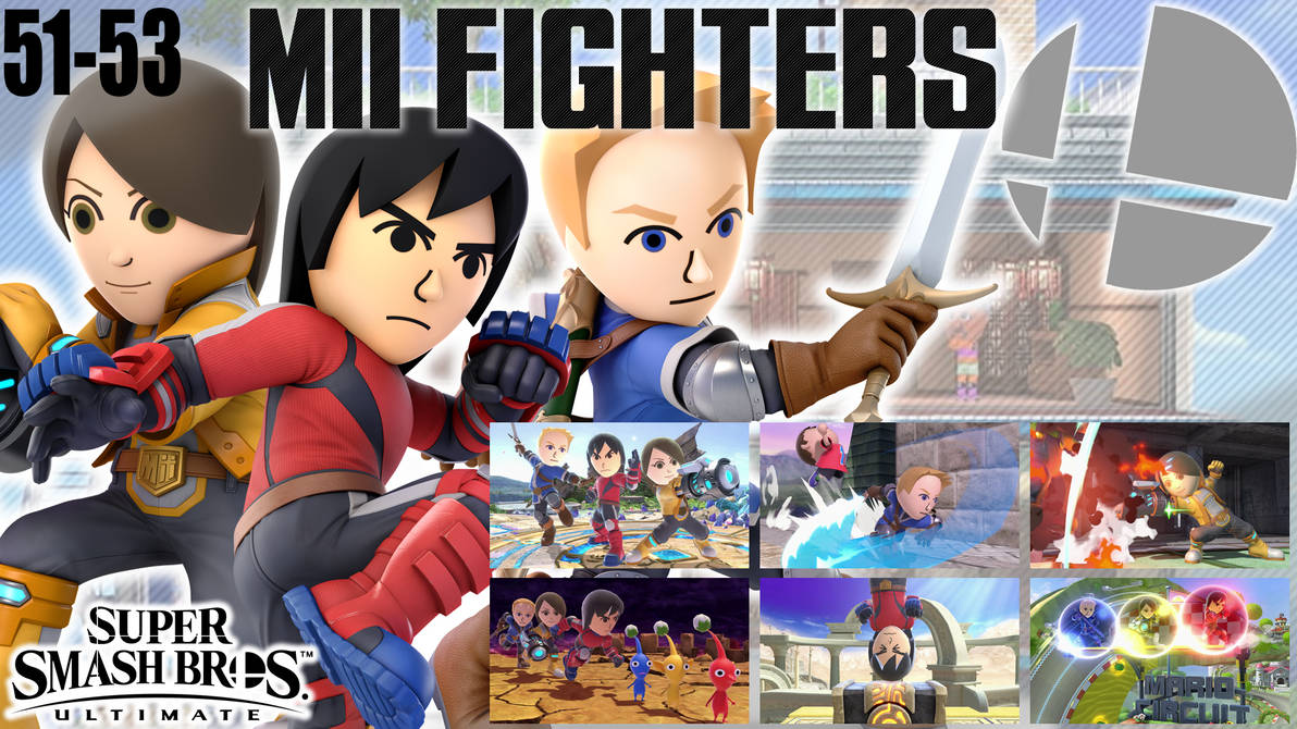 SSBU Wallpaper - 51-53 - Mii Fighters by UMSAuthorLava ...