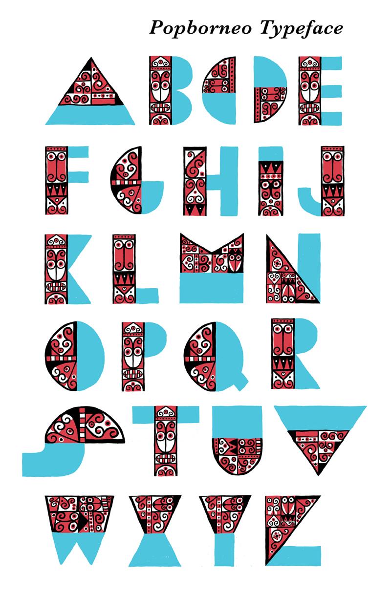 POPBORNEO Typeface by titoyusuf