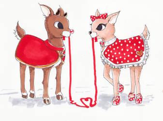 Deer love by jamierocket