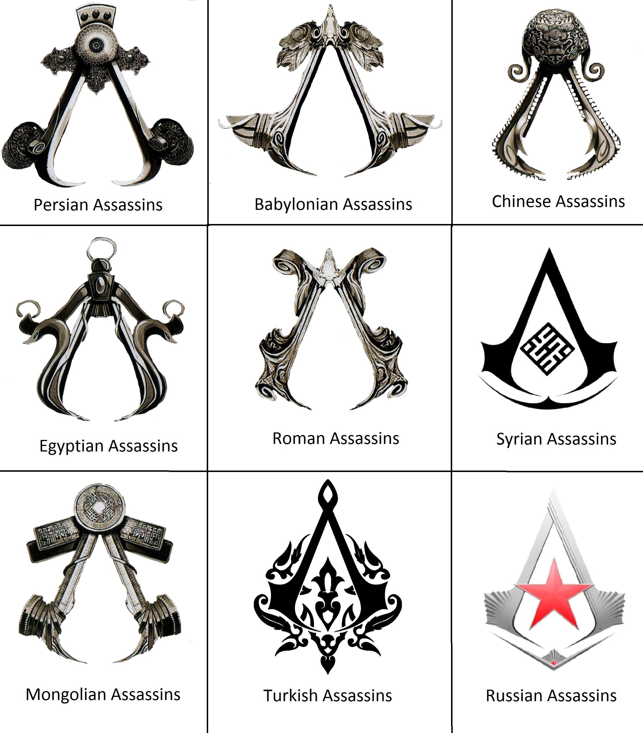 Assassins symbols by 575750 on DeviantArt