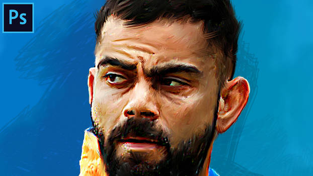 Virat kohli - digital painting | oil painting