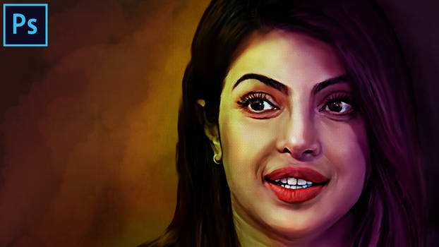 Priyanka Chopra - digital painting | oil painting