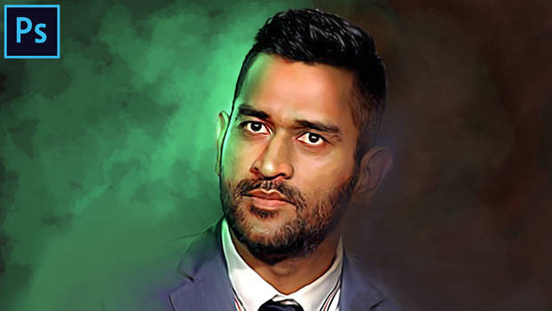 MS Dhoni - Digital Painting