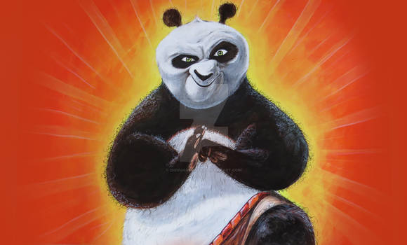 Drawing Po - Kung Fu Panda - Drawing - Painting