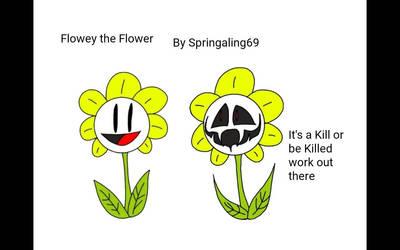 Undertale: Flowey the Flower  by Springaling69