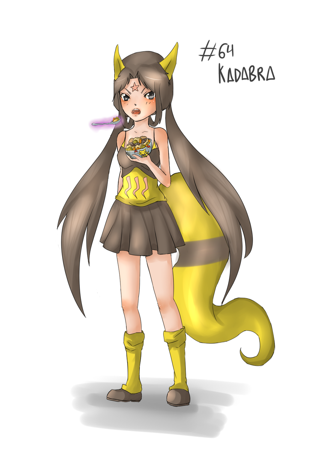 Pokemon Gijinka 64 Kadabra By Izumisensei On Deviantart