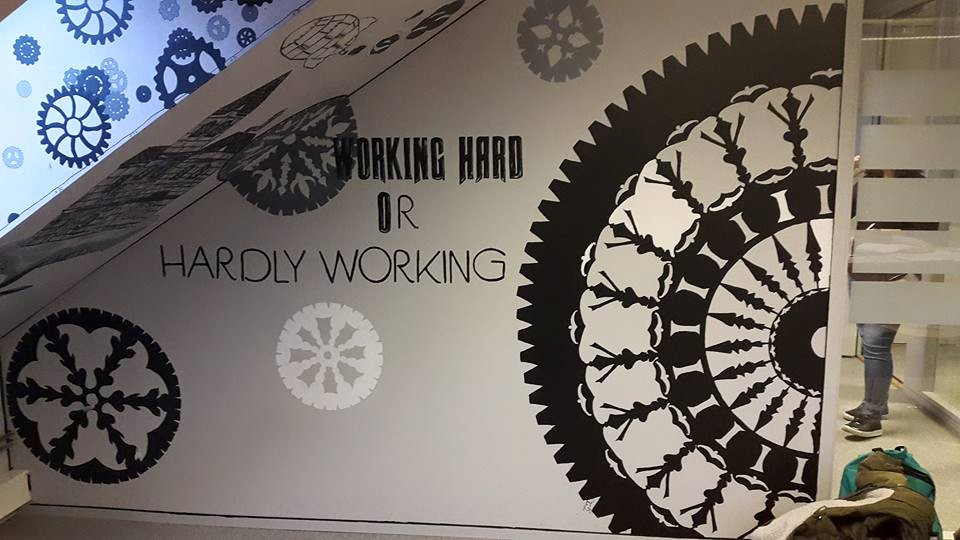 'Working hard or hardly working' Wall project by CupNoodlesFreak