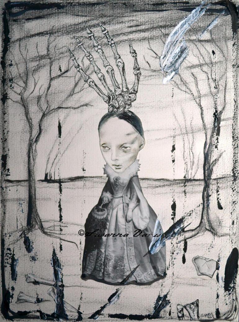 Little Skeleton Countess mixed media 2013 50 t by susannavaris