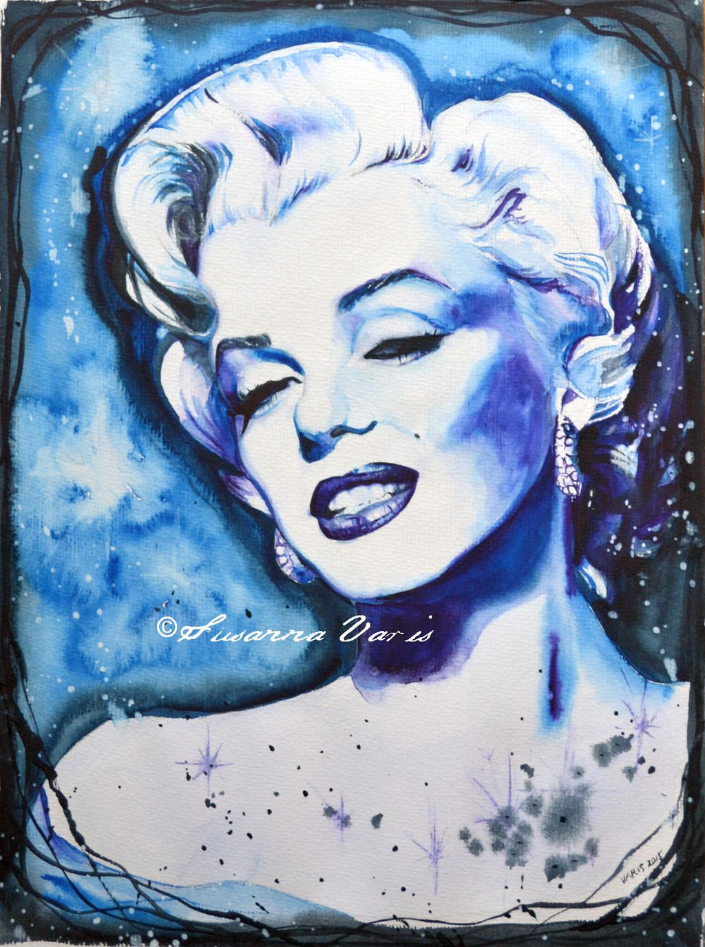 Blue Marilyn by susannavaris