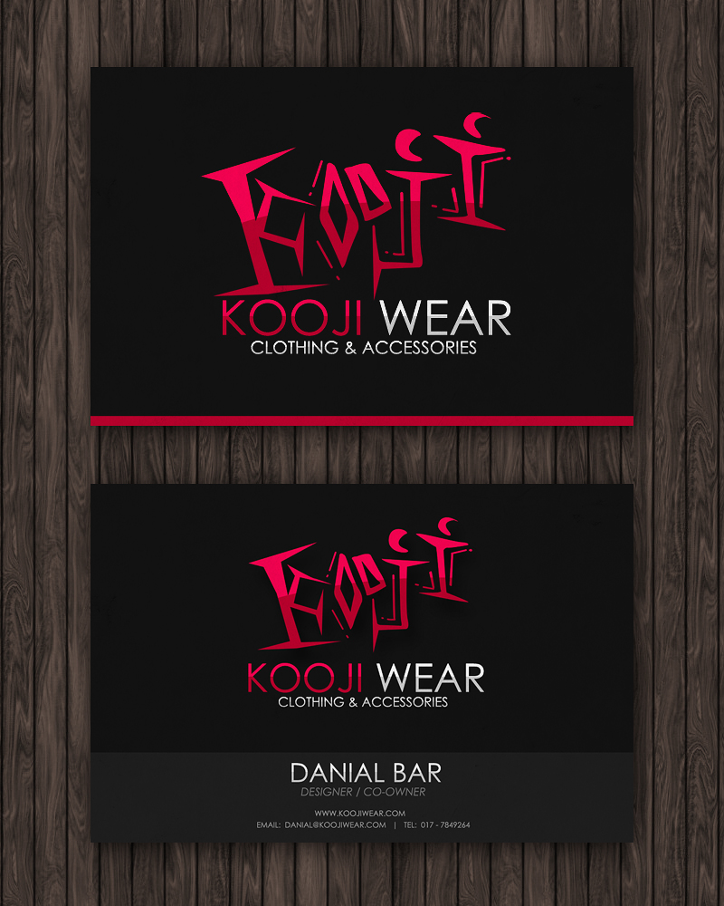 Kooji Wear Business Card by Flamix on DeviantArt