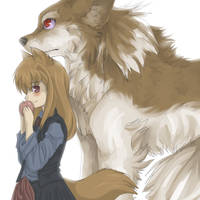Commission: Holo by miri-kun