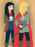 Female Merlin and Arthur