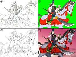 My youma art method : How to by angle333