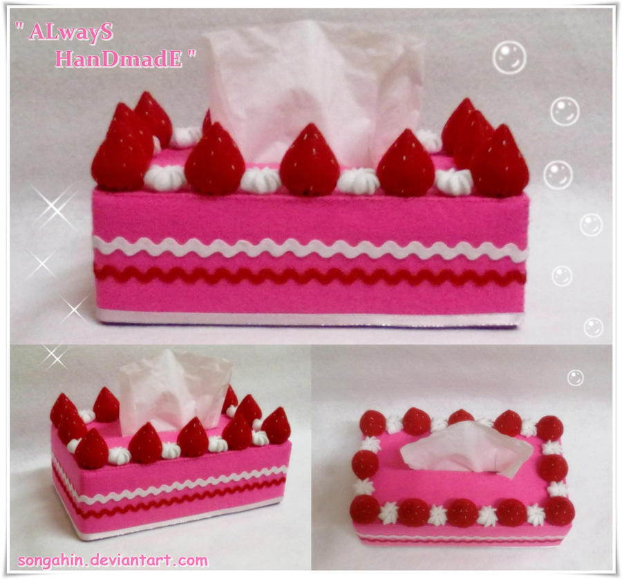 My Strawberry Tissue Cake Box. by SongAhIn