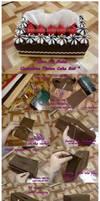Chocolate Tissue Cake Box..