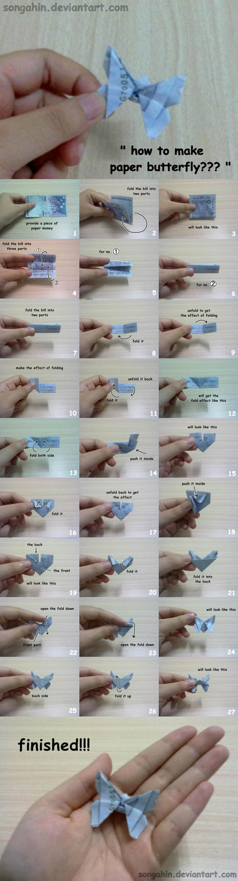 Paper Butterfly Tutorial... by SongAhIn