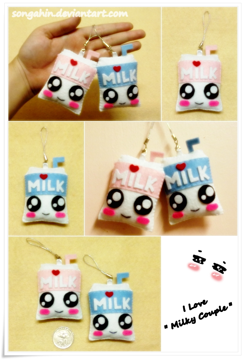 Milky Couple Key Chain... by SongAhIn