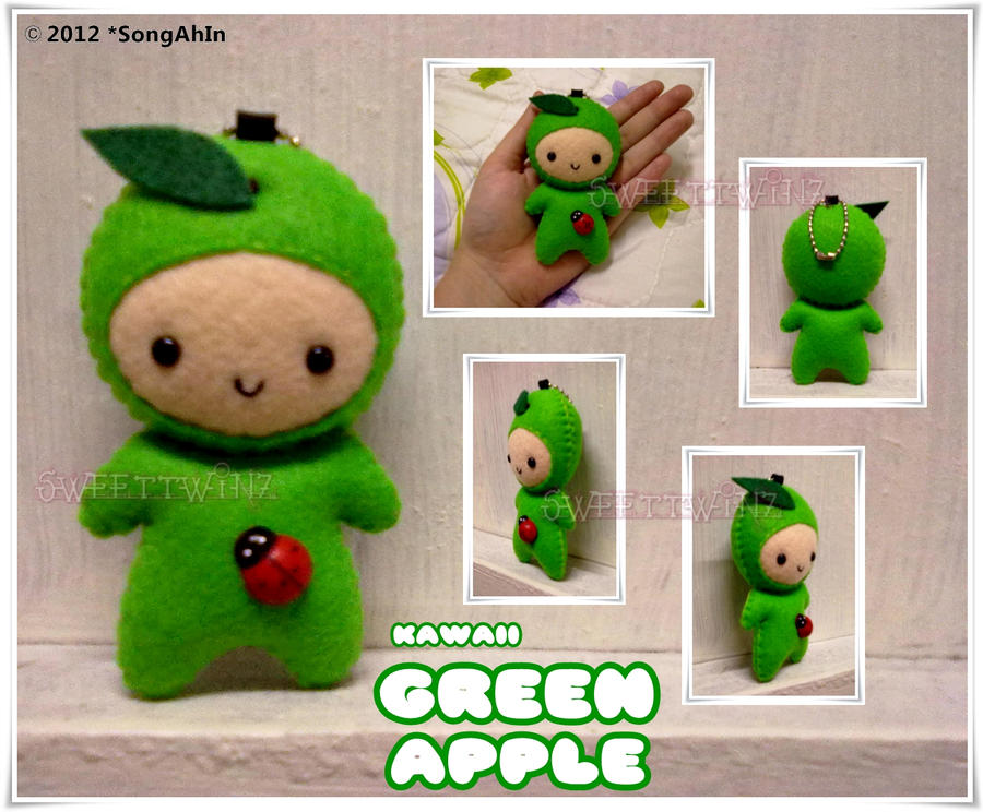 Kawaii Green Apple by SongAhIn