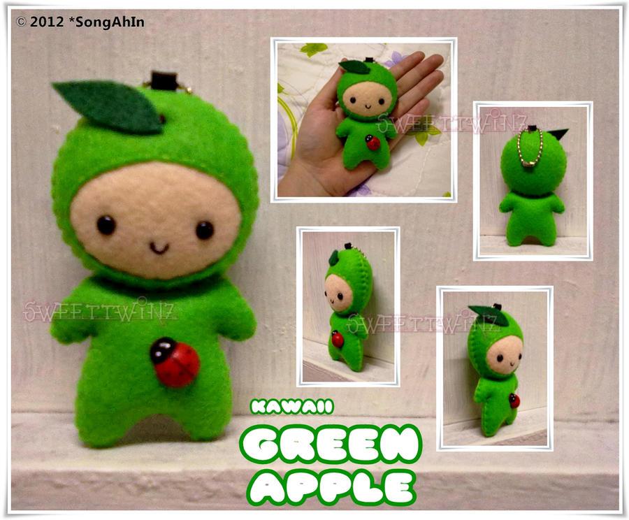 Kawaii Green Apple by SongAhIn