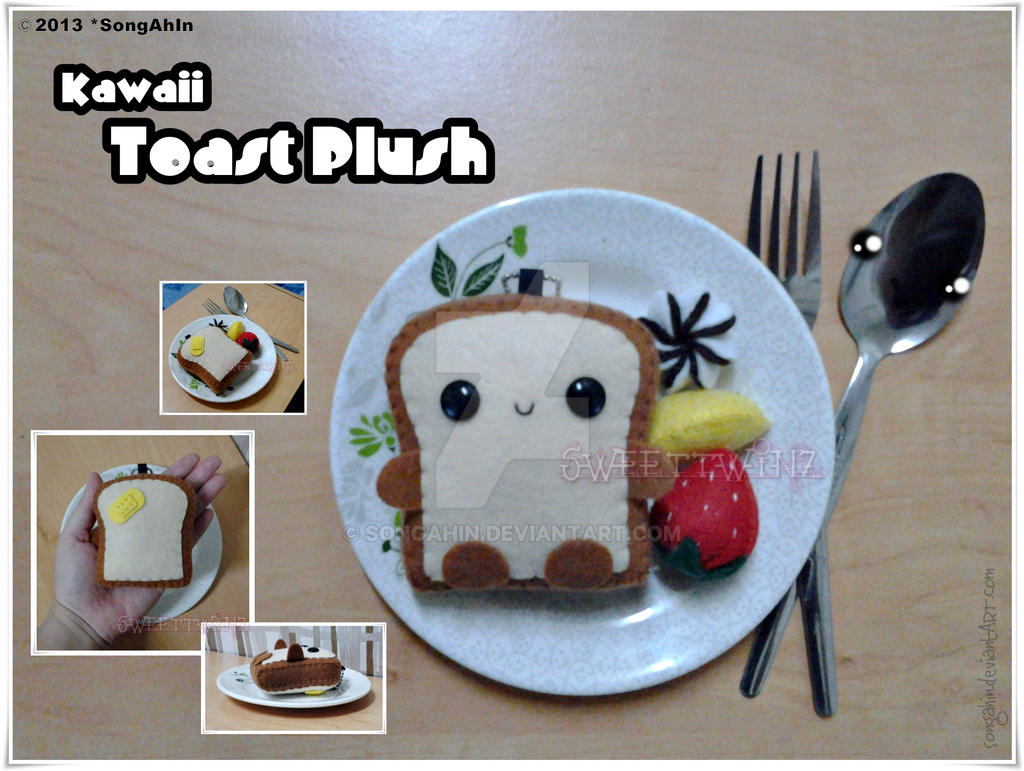 Kawaii Toast Plush by SongAhIn